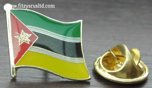 Mozambique Flag Lapel Hat Cap Tie Pin Badge Repblica de Moambique Maputo Gift